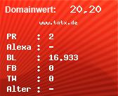 Domainbewertung - Domain www.tatx.de bei Domainwert24.net