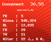 Domainbewertung - Domain www.marl.de bei Domainwert24.net