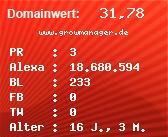Domainbewertung - Domain www.growmanager.de bei Domainwert24.net