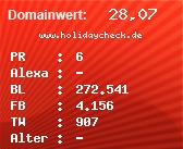Domainbewertung - Domain www.holidaycheck.de bei Domainwert24.net