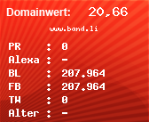 Domainbewertung - Domain www.band.li bei Domainwert24.net