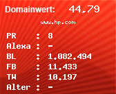 Domainbewertung - Domain www.hp.com bei Domainwert24.net