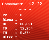 Domainbewertung - Domain amazon.de bei Domainwert24.net