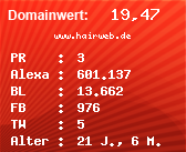 Domainbewertung - Domain www.hairweb.de bei Domainwert24.net