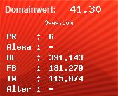 Domainbewertung - Domain 9gag.com bei Domainwert24.net