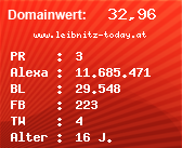 Domainbewertung - Domain www.leibnitz-today.at bei Domainwert24.net