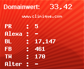 Domainbewertung - Domain www.clinique.com bei Domainwert24.net
