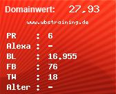 Domainbewertung - Domain www.wbstraining.de bei Domainwert24.net