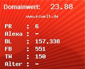 Domainbewertung - Domain www.pcwelt.de bei Domainwert24.net