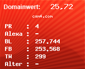 Domainbewertung - Domain cam4.com bei Domainwert24.net
