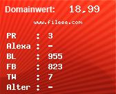 Domainbewertung - Domain www.fileee.com bei Domainwert24.net