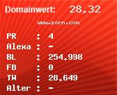 Domainbewertung - Domain www.porn.com bei Domainwert24.net