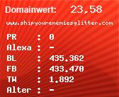 Domainbewertung - Domain www.shipyourenemiesglitter.com bei Domainwert24.net