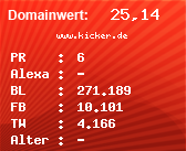 Domainbewertung - Domain www.kicker.de bei Domainwert24.net