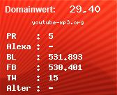 Domainbewertung - Domain youtube-mp3.org bei Domainwert24.net