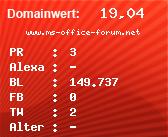 Domainbewertung - Domain www.ms-office-forum.net bei Domainwert24.net