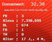 Domainbewertung - Domain www.berlin-tour-and-guide.de bei Domainwert24.net