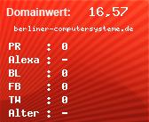 Domainbewertung - Domain berliner-computersysteme.de bei Domainwert24.net