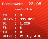 Domainbewertung - Domain www.led24.de bei Domainwert24.net