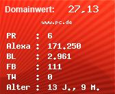 Domainbewertung - Domain www.pc.de bei Domainwert24.net