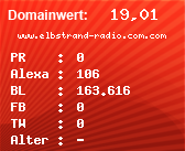 Domainbewertung - Domain www.elbstrand-radio.com.com bei Domainwert24.net