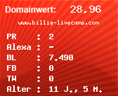 Domainbewertung - Domain www.billig-livecams.com bei Domainwert24.net