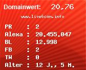 Domainbewertung - Domain www.live6cam.info bei Domainwert24.net