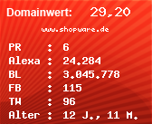 Domainbewertung - Domain www.shopware.de bei Domainwert24.net