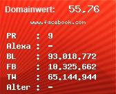 Domainbewertung - Domain www.facebook.com bei Domainwert24.net