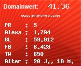 Domainbewertung - Domain www.gayromeo.com bei Domainwert24.net