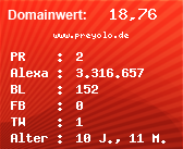 Domainbewertung - Domain www.preyolo.de bei Domainwert24.net