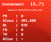 Domainbewertung - Domain www.pc-monitore.net.net bei Domainwert24.net