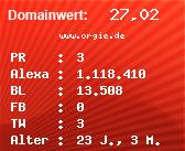 Domainbewertung - Domain www.orgie.de bei Domainwert24.net