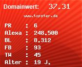 Domainbewertung - Domain www.topster.de bei Domainwert24.net