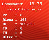 Domainbewertung - Domain www.xxlflatrate.com.com bei Domainwert24.net