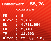 Domainbewertung - Domain www.heise.de bei Domainwert24.net
