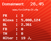 Domainbewertung - Domain www.tools4golf.de bei Domainwert24.net