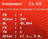 Domainbewertung - Domain www.g-klingler.homepage.t-online.de bei Domainwert24.net
