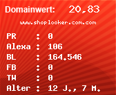 Domainbewertung - Domain www.shoplooker.com.com bei Domainwert24.net
