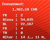 Domainbewertung - Domain toolbar.kilu.de bei Domainwert24.net
