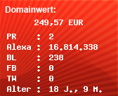Domainbewertung - Domain www.colonia-taxi.de bei Domainwert24.net