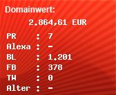 Domainbewertung - Domain www.oesterreich.at bei Domainwert24.net
