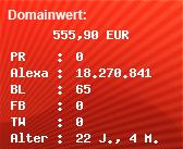 Domainbewertung - Domain www.kleiderbuegel.com bei Domainwert24.net