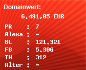 Domainbewertung - Domain www.vol.at bei Domainwert24.net