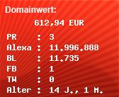 Domainbewertung - Domain www.gereift.at bei Domainwert24.net