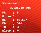 Domainbewertung - Domain www.klicktel.de bei Domainwert24.net