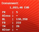 Domainbewertung - Domain pkw.de bei Domainwert24.net
