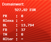 Domainbewertung - Domain www.egret.com bei Domainwert24.net
