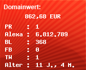Domainbewertung - Domain www.sexcham.com bei Domainwert24.net