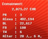 Domainbewertung - Domain www.aufkleberdealer.de bei Domainwert24.net